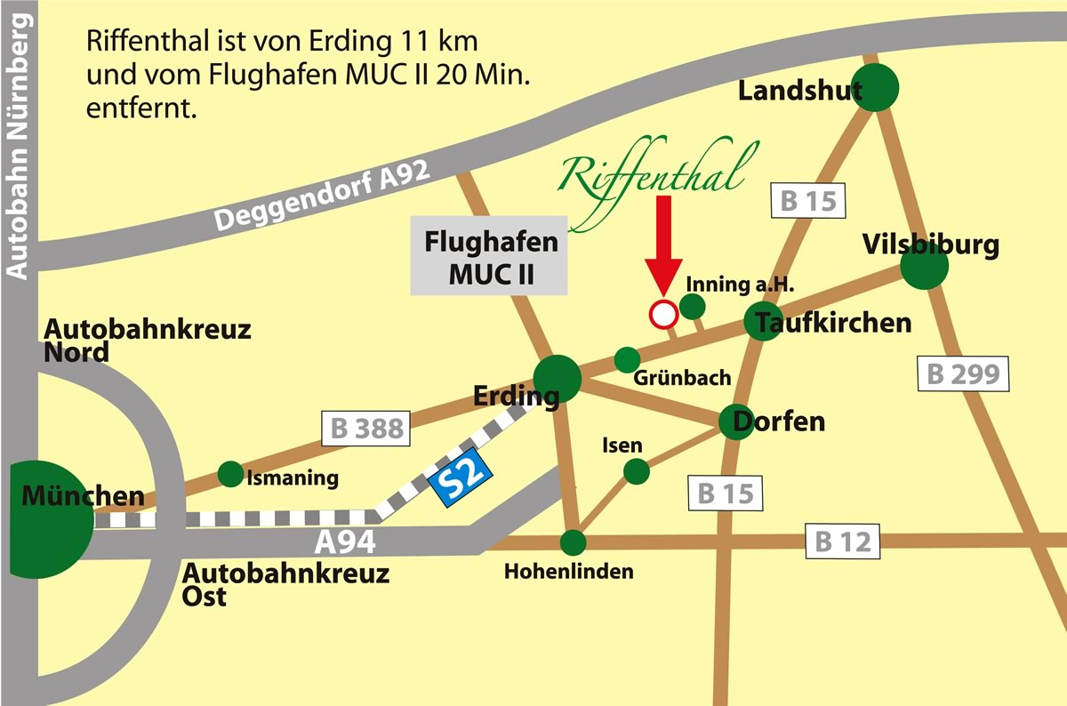 Anfahrt zur Tierpension Riffenthal